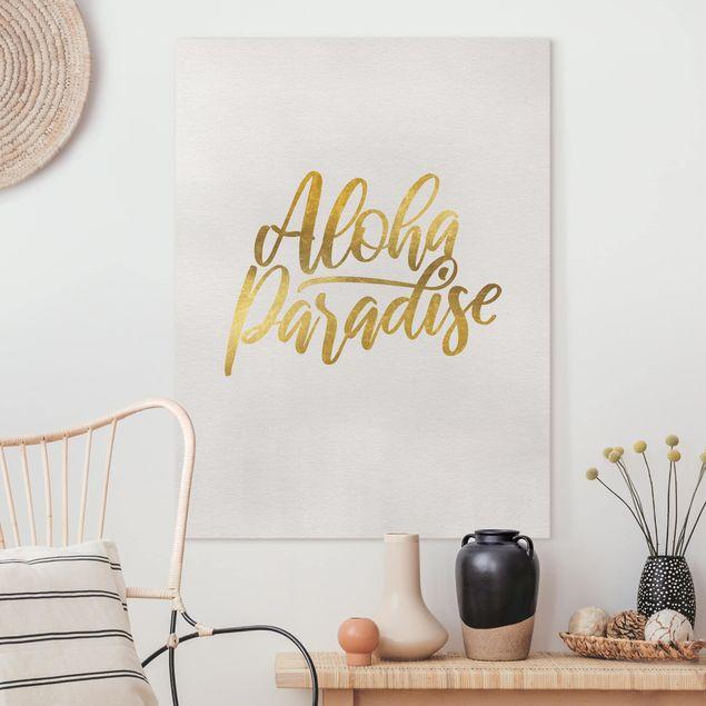 Leinwandbild - Gold - Aloha Paradise - Hochformat 4:3