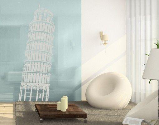 Fensterfolie - Fenstertattoo No.FB72 Turm von Pisa - Milchglasfolie