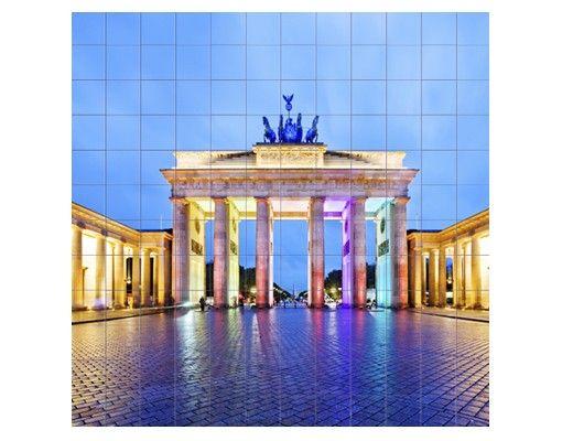 Fliesenbild - Erleuchtetes Brandenburger Tor