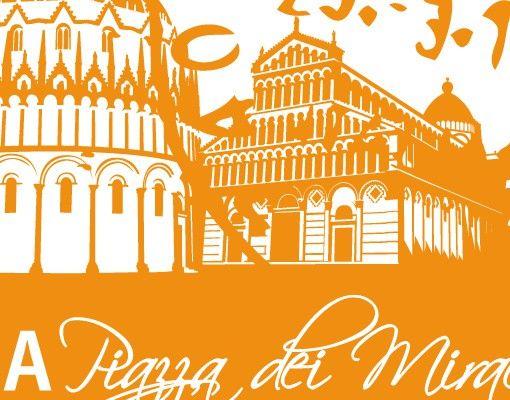 Wandtattoo No.FB76 Briefmarke von Pisa