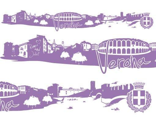 Stadt Verona - Wandtattoo Skyline - No.FB79 Verona Skyline XXL