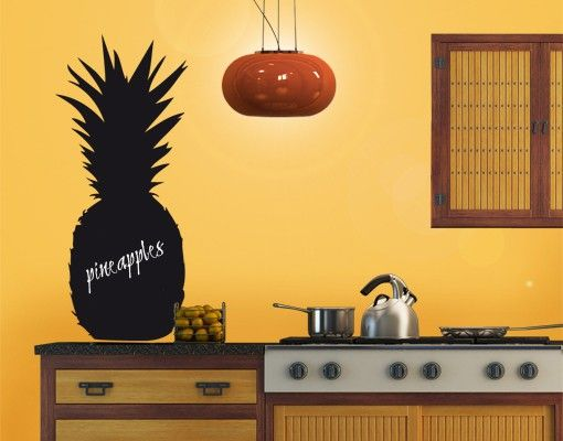 Wandtattoo Kreidetafel No.EK87 Ananas