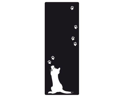 Wandtattoo Katze Kreidetafel No.UL718 Kleine Katze