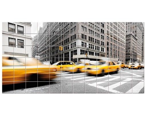 Fliesenbild - Rasantes New York