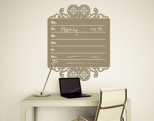 Wandtattoo Kreidetafel No.MW69 Wochenkalender