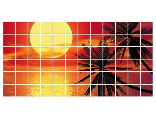Fliesenbild - Karibischer Sonnenuntergang