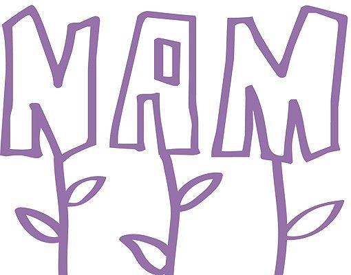 Wandtattoo Sprüche - Wandtattoo Namen No.RS59 Wunschtext Buchstaben-Blüten