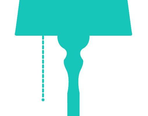 Wandtattoo Kreidetafel No.AC80 Lampe