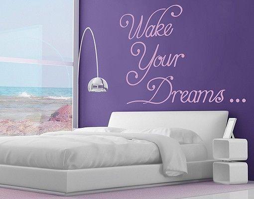 Wandtattoo Sprüche - Wandsprüche No.RS81 Wake Your Dreams