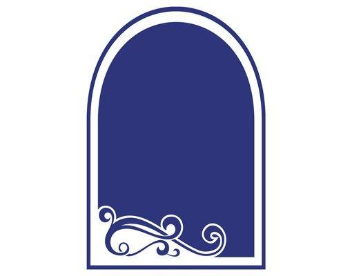 Wandtattoo Kreidetafel No.IS140 Spiegel mit Ornament