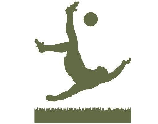 Wandtattoo Fußball - Kinderzimmer No.1033 Fußballer in Aktion