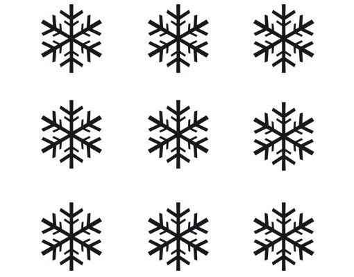 Fensterfolie - Fenstertattoo No.SK4 Schneeflocken Set - Milchglasfolie