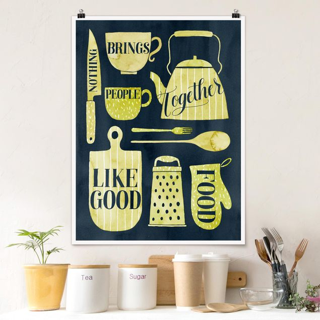 Poster - Seelennahrung - Gutes Essen - Hochformat 3:4