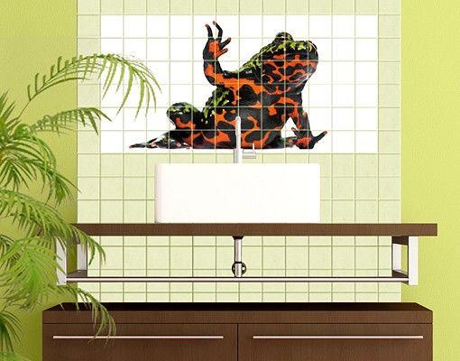 Fliesenbild - Chinesische Rotbauchunke
