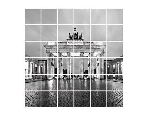 Fliesenbild - Erleuchtetes Brandenburger Tor II