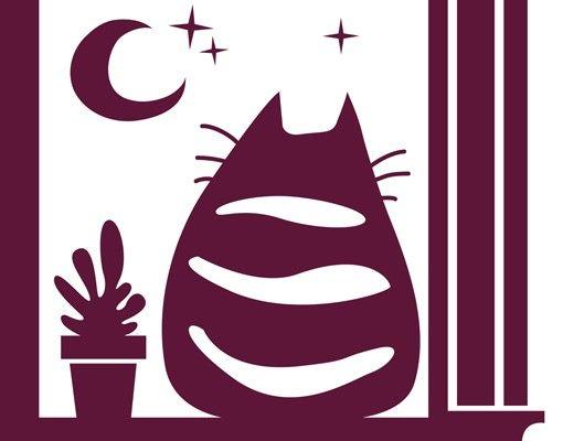 Wandtattoo Katze No.MW97 Katzenkino