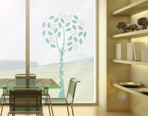 Fensterfolie - Fenstertattoo No.MW92 Einsames Bäumchen - Milchglasfolie