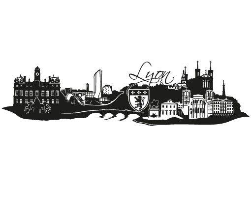 Wandtattoo Skyline No.FB81 Lyon Skyline XXL