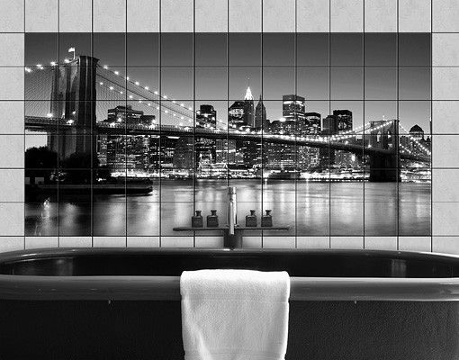 Fliesenbild - Brooklyn Brücke in New York II