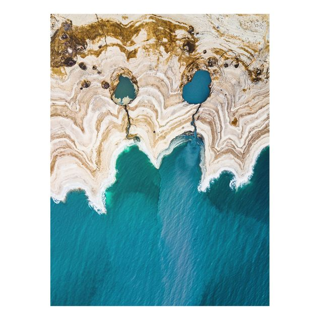 Forex Fine Art Print - Lagune in Israel - Hochformat 4:3