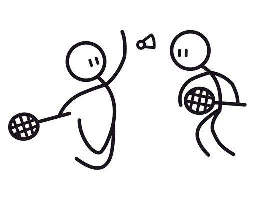 Wandtattoo Kinderzimmer No.IF12 Badminton