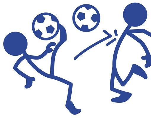 Wandtattoo Fußball - No.RS99 Strichmännchen Fußball
