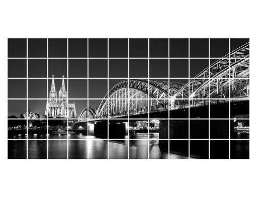Fliesenbild - Köln bei Nacht II