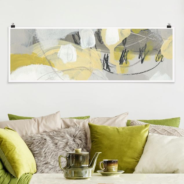 Poster - Zitronen im Nebel I - Panorama Querformat