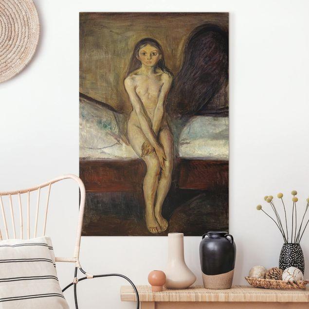Leinwandbild - Edvard Munch - Pubertät - Hochformat 3:2