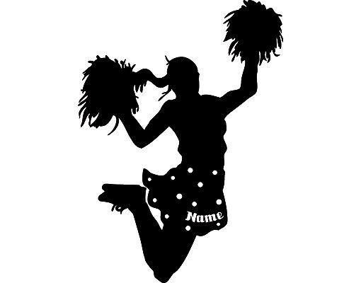 Wandtattoo Kinderzimmer No.RS106 Wunschtext Cheerleader