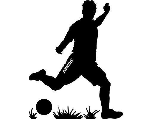 Wandtattoo Fußball - Kinderzimmer No.RS112 Wunschtext Fußball