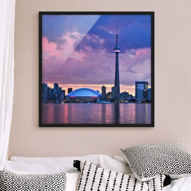 Bild mit Rahmen - Fascinating Toronto - Quadrat 1:1