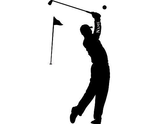 Wandtattoo No.RS115 Wunschtext Golf