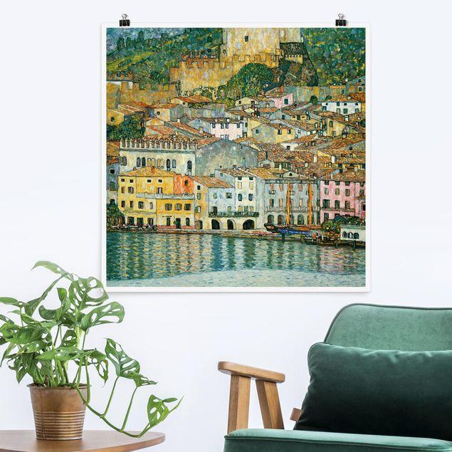 Poster - Gustav Klimt - Malcesine am Gardasee - Quadrat 1:1