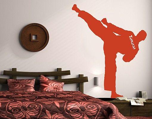 Wandtattoo Kinderzimmer No.RS125 Wunschtext Karate