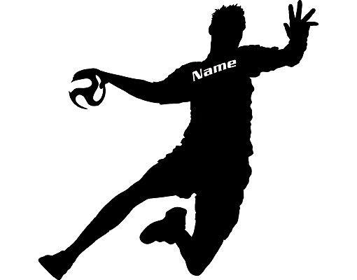 Fensterfolie - Fenstertattoo No.RS114 Wunschtext Handball - Milchglasfolie