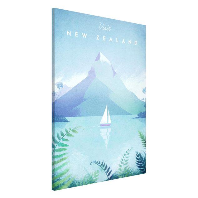 Magnettafel - Reiseposter - Neuseeland - Memoboard Hochformat 3:2