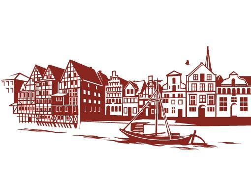 Stadt Lüneburg - Wandtattoo Skyline - No.FB83 Lüneburg Skyline Wandtattoo