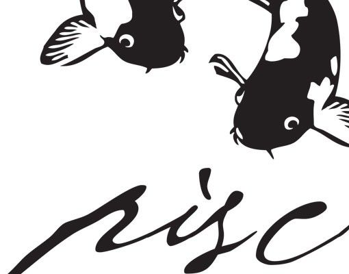 Wandtattoo Fische No.UL752 Zodiac Sign Pisces