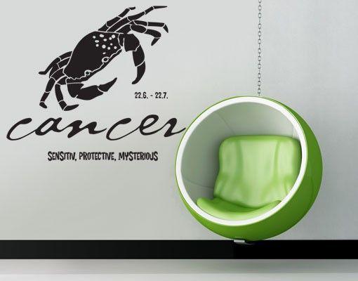 Wandtattoo No.UL755 Zodiac Sign Cancer