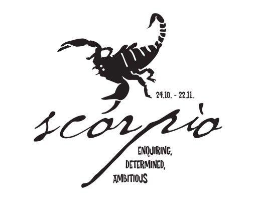 Wandtattoo No.UL757 Zodiac Sign Scorpio