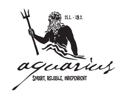 Wandtattoo No.UL761 Zodiac Sign Aquarius