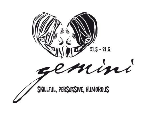 Wandtattoo No.UL763 Zodiac Sign Gemini