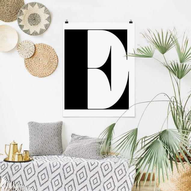 Poster - Antiqua Letter E - Hochformat 3:4