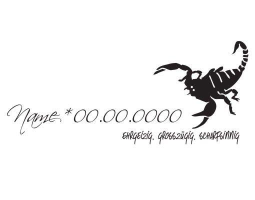 Wandtattoo Sprüche - Wandtattoo Namen No.UL770 Wunschtext Skorpion