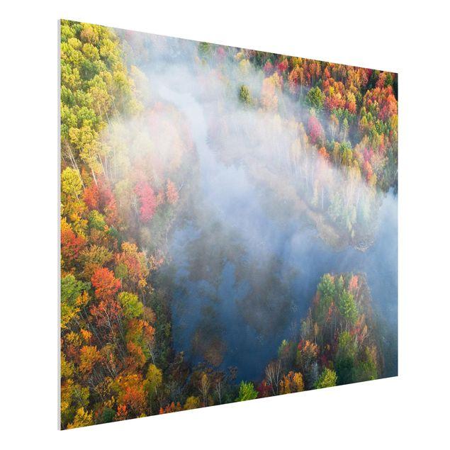 Forex Fine Art Print - Luftbild - Herbst Symphonie - Querformat 3:4