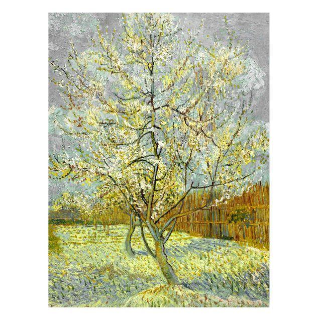 Magnettafel - Vincent van Gogh - Pfirsichbaum rosa - Memoboard Hochformat 4:3