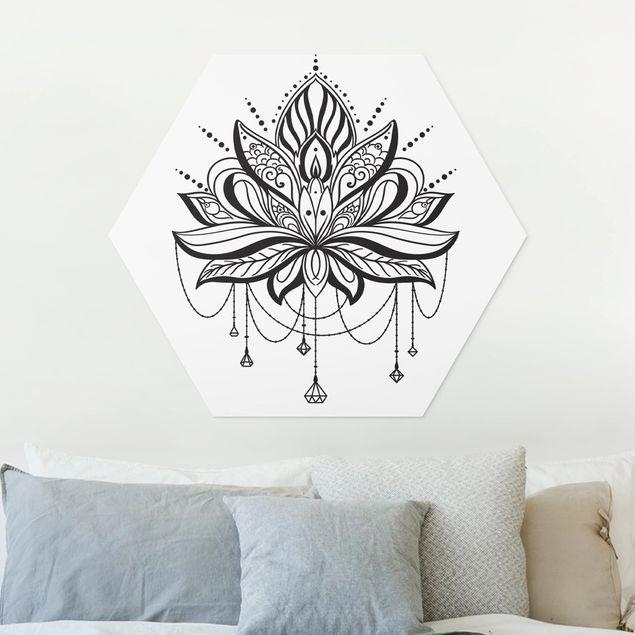 Hexagon Bild Forex - Lotus mit Ketten