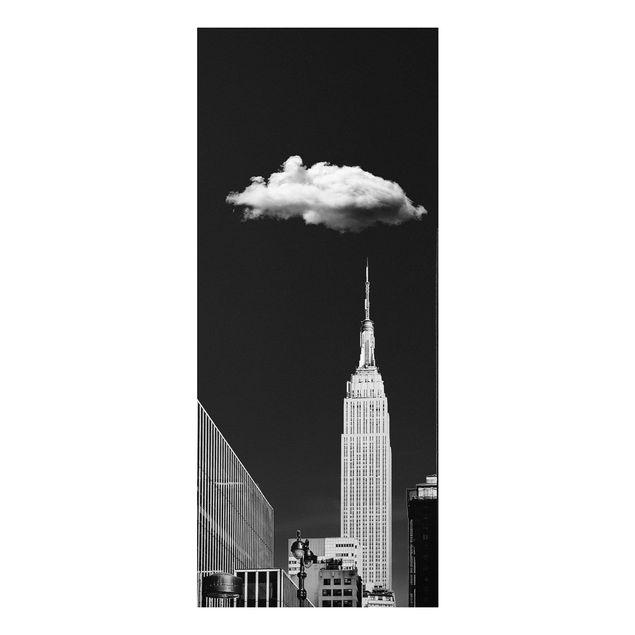 Forex Fine Art Print - New York mit einzelner Wolke - Panel