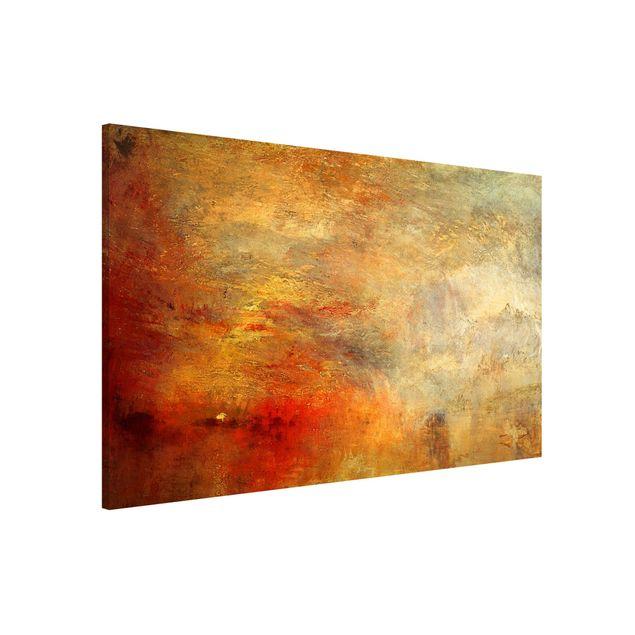 Magnettafel - Joseph Mallord William Turner - Sonnenuntergang über einem See - Memoboard Querformat 2:3